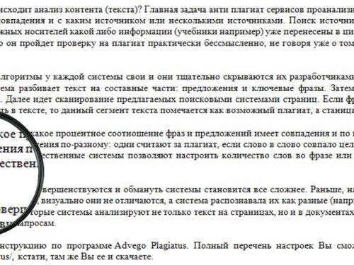 Принцип работы систем анти плагиата и разбор Advego Plagiatus