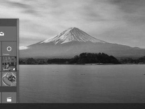 Черно-белый экран в Windows 10