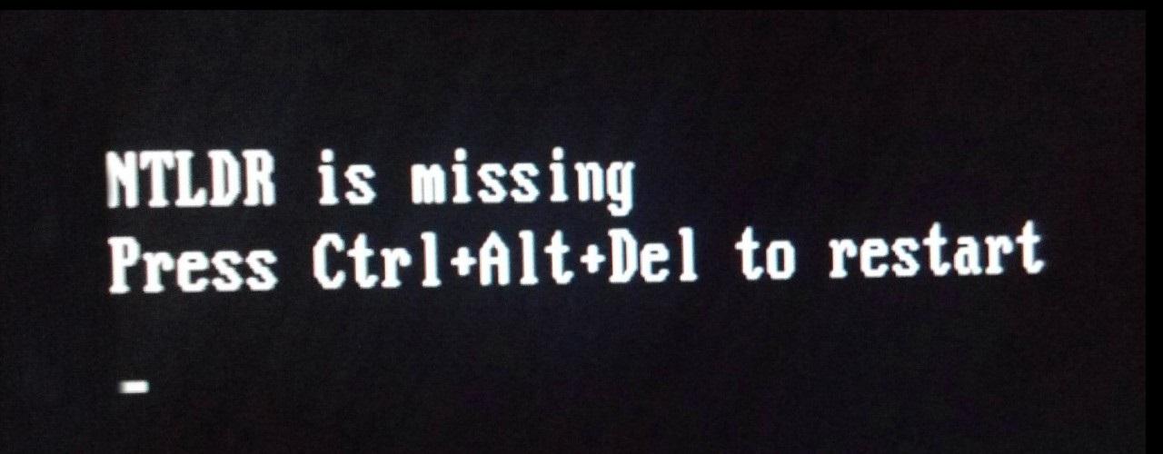 Ошибка NTLDR is missing, press Ctrl+Alt+Del to Restart