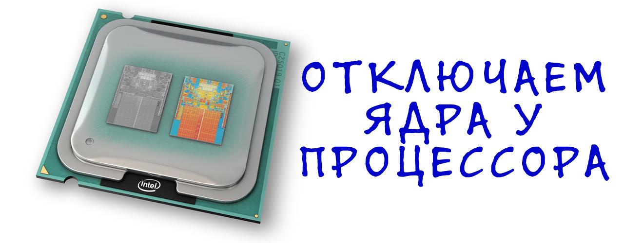 Как выключать процессоры для работы с программой