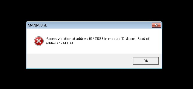 Ошибка запуска видеомании на современной Windows