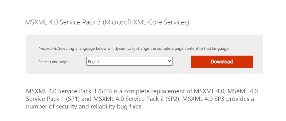 Качаем MSXML 4.0